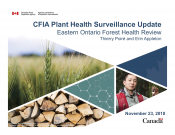 CFIA Plant Health Surveillance Update