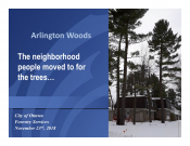 Arlington Woods: The neighbourhood people moved to for the trees...