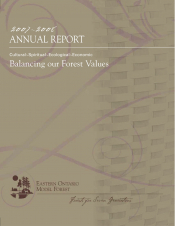 Balancing Our Forest Values (2007-2008)