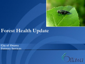 Forest Health Update - City of Ottawa Forestry Services - 2021 Pest Review Presentation