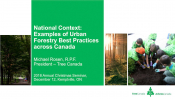 National Context: Examples of Urban Forestry Best Practices across Canada