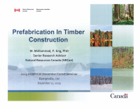 Prefabrication in Timber Construction