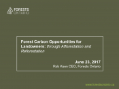 Forest Carbon Opportunities for Landowners: through Afforestation and Reforestation