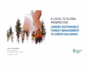 Linking Sustainable Forest management to Green Buildings