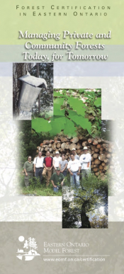 Forest Certification in Eastern Ontario: Managing Private and Community Forests Today, for Tomorrow