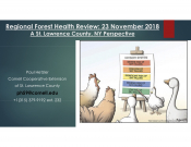 Regional Forest Health Review: A St Lawrence County, NY Persective