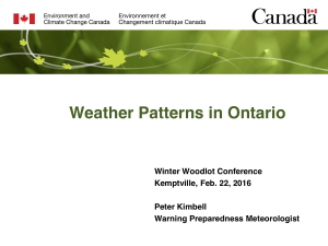 Weather Patterns in Ontario