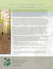 Profiles of Certified Community Forests in Eastern Ontario